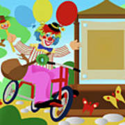 Clown Greeting Poster