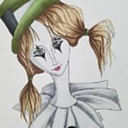 Green Hat Clown Poster