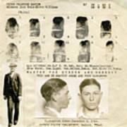 Clyde Barrow Mugshot Poster
