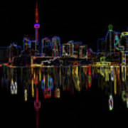 Cn Tower Outline Poster