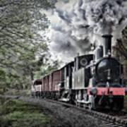 Coal Tank Engine In The Rain Poster