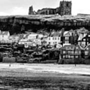 Coast - Whitby Abbey And Church Poster