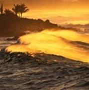 Coastline Sunset Poster