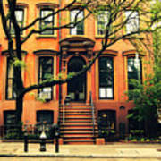 Cobble Hill Brownstones - Brooklyn - New York City Poster by Vivienne Gucwa