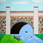 Cobblestone Bridge Poster