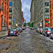 Cobblestone Brooklyn From Dumbo Poster