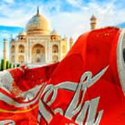 Coca-cola Can Trash Oh Yeah - And The Taj Mahal Poster