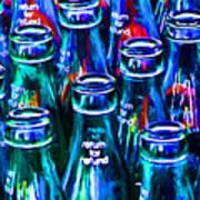 Coca-cola Coke Bottles - Return For Refund - Painterly - Blue Poster