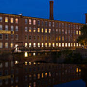 Cocheco Mills At Twilight Dover New Hampshire Poster