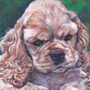 Cocker Spaniel Puppy Poster by Lee Ann Shepard