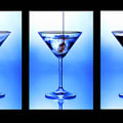 Cocktail Triptych Poster