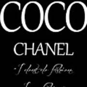 Coco Chanel Quote Poster