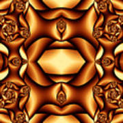 Cocoa Fractal Roses Poster