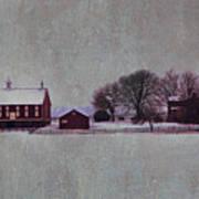 Codori Farm At Gettysburg In The Snow Poster