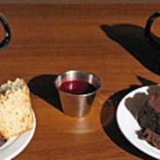 Coffee And Chocolate Cake. Mountain House Inn Poster