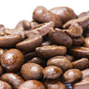 Coffee Beans Closeup Poster