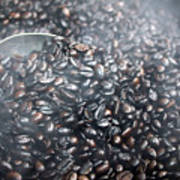 Coffee Beans Roasting Poster