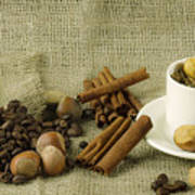 coffee beans Still Life Poster