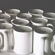Coffee Cups- By Linda Woods Poster