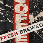 Coffee Fresh Brewed Poster