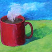 Coffee Landscape Poster