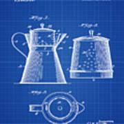 Coffee Pot Patent 1916 Blue Print Poster