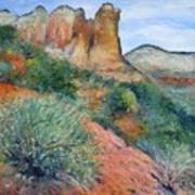 Coffee Pot Rock Sedona Arizona Usa 2001   Poster