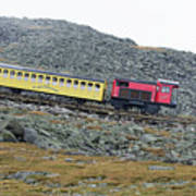 Cog Railway On Top Of Mt Washington Poster