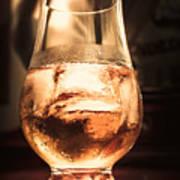 Cognac Glass On Bar Counter Poster