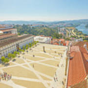Coimbra University Aerial Poster