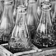Coke Bottles-bw Poster