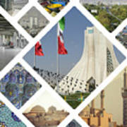 Collage Of Iran Images  Poster