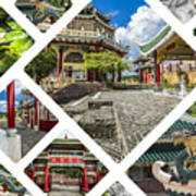 Collage Of Taoist Temple In Cebu, Philippines. Poster
