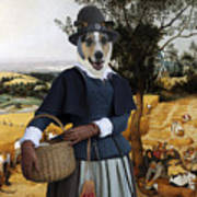 Collie Smooth - Smooth Collie Art Canvas Print - The Harvesters Poster
