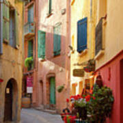 Collioure Alley Poster