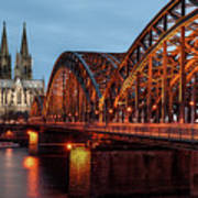 Cologne Cathedral At Dusk Poster