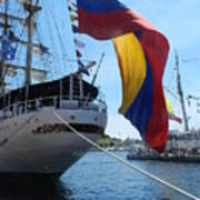 Colombian Tall Ship Poster