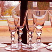 Colonial Glassware Poster