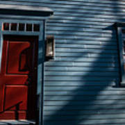 Colonial Red Door Newport Rhode Island Poster