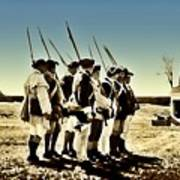 Colonial Soldiers Standing At Attention Poster