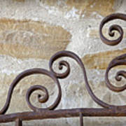 Colonial Wrought Iron Gate Detail Poster