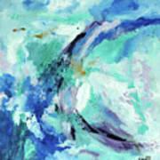 Color Chaos Aqua Poster