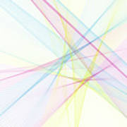 Color Computer Graphic Line Pattern Poster
