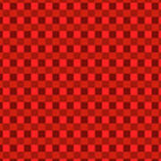 Color Dots On Red Drawing Abstract #7 Poster