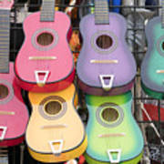 Color Guitars Poster