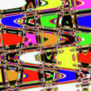 Color Wave Abstract Poster