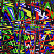 Color Works Abstract Poster