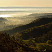 Colorado And Manitou Springs Valley In Fog Poster
