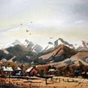 Colorado Mountain Ranch Poster