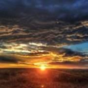 Colorado Plains Sunset Poster